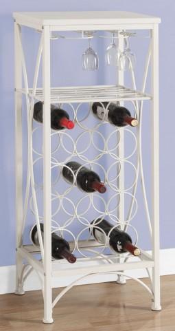 "White Metal 40"" Home Bar Cabinet"
