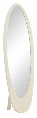 3361 White Oval Cheval Mirror