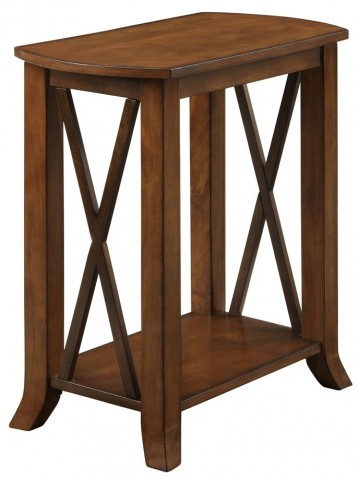 3384 Cherry Brown Accent Side Table