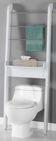 White Bathroom Space Saver