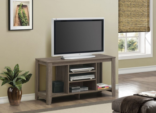 Dark Taupe Reclaimed TV Stand