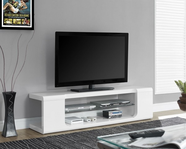 High Glossy White TV Console