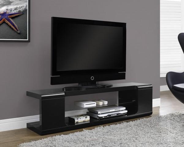 High Glossy Black TV Console