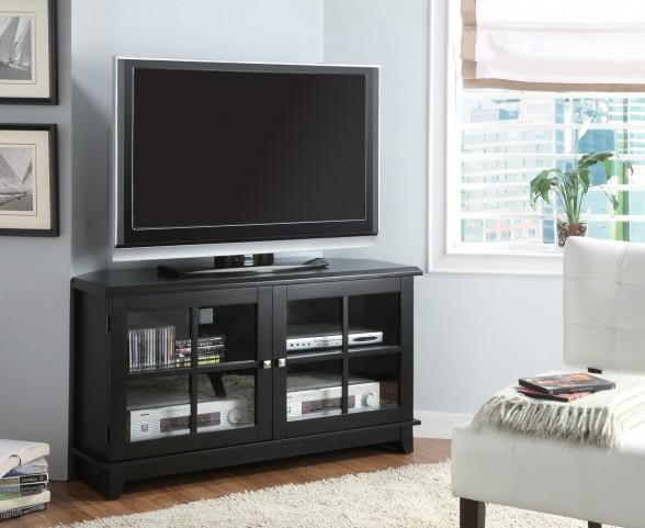 """3540 Black Veneer Top 48"""" Corner TV Console"""