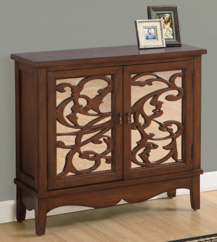 3840 Dark Walnut Mirror Accent Chest