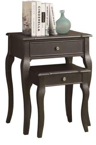 3875 Antique Black 2Pcs Nesting Tables