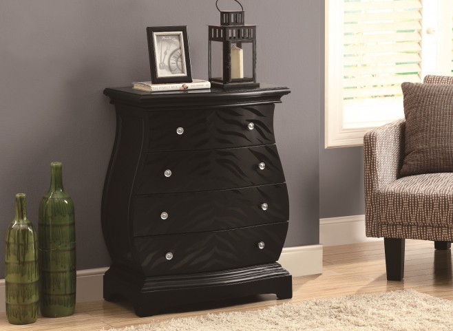 3891 Black Tiger Veneer Bombay Chest