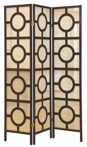 4620 Cappuccino Frame 3 Panel Folding Screen