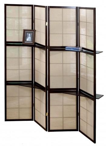 4624 Cappuccino 4 Panel Folding Screen