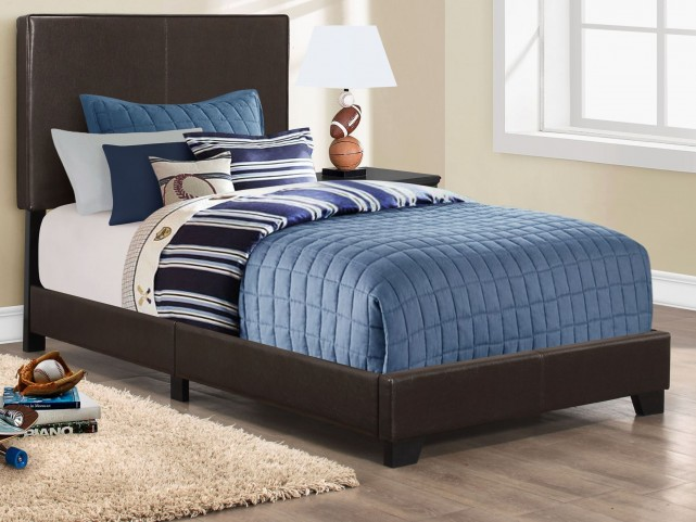 Twin Dark Brown Platform Bed