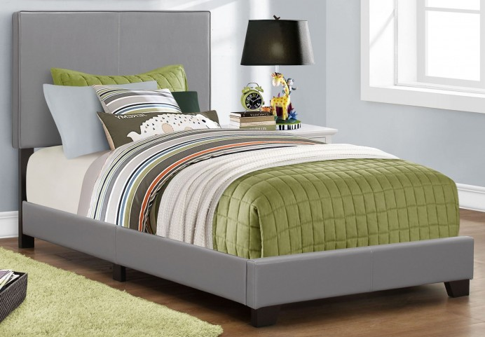 Twin Gray Platform Bed