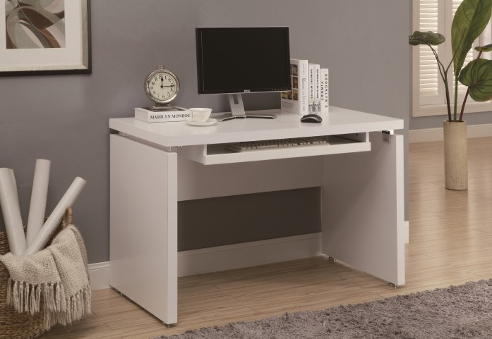 """7053 White 48"""" Computer Desk"""