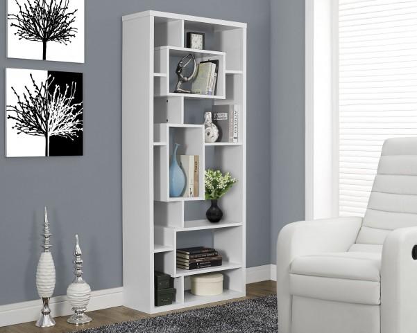 """White Hollow-Core 72"""" Bookcase"""