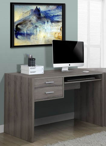 Dark Taupe Reclaimed-Look Computer Desk