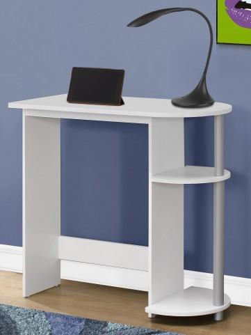 """7116 White 32"""" Juvenile Computer Desk"""
