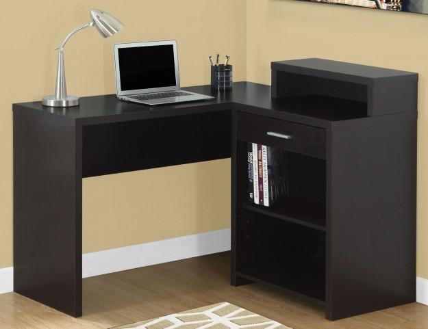 Cappuccino Corner Storage Computer Desk