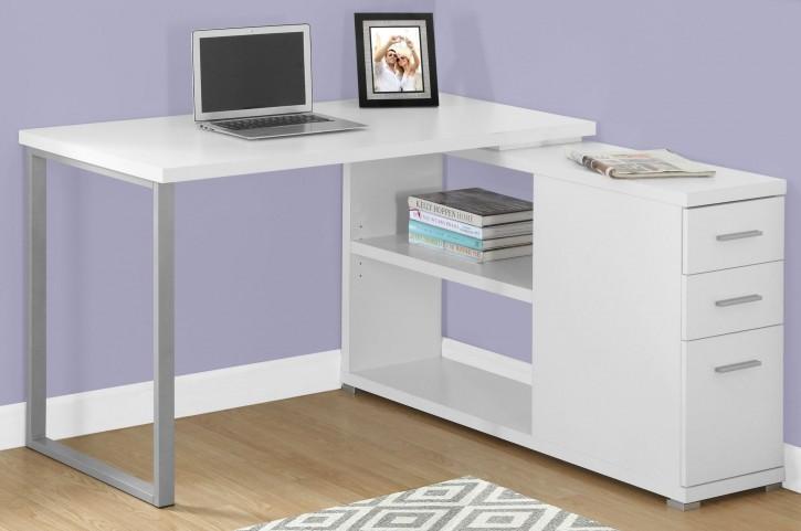 White LAF/RAF Computer Desk