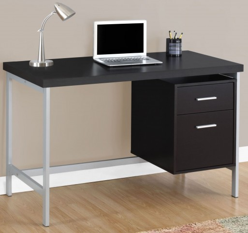"Cappuccino 48"" Storage Drawer Computer Desk"
