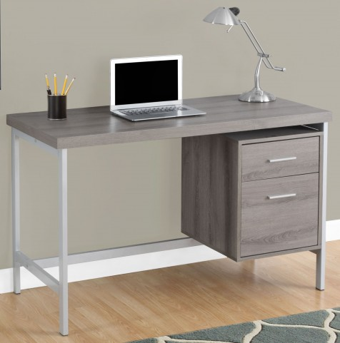 "7150 Dark Taupe 48"" Storage Drawer Computer Desk"