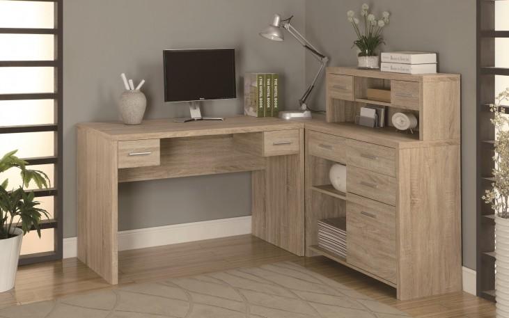 7218 Natural L Shaped Home Office Desk