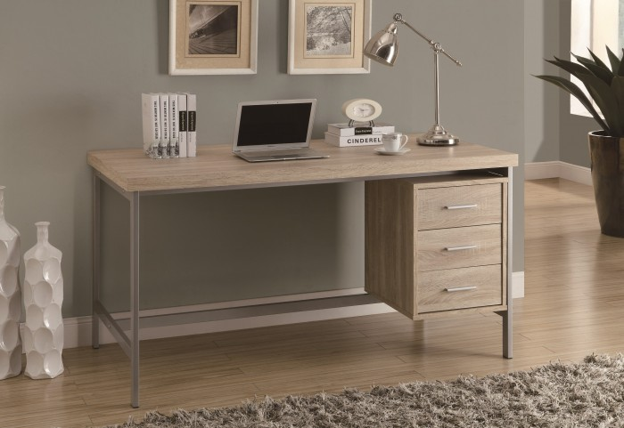 "7245 Natural Silver Metal 60"" Office Desk"