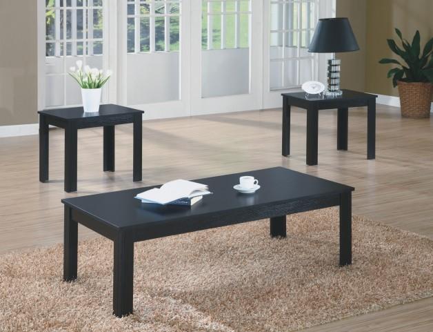 7840P Black 3Pcs Table Set