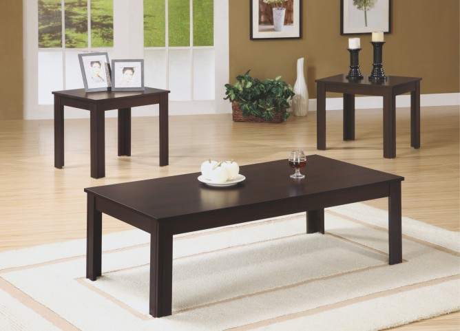 7842P Cappuccino 3Pcs Table Set