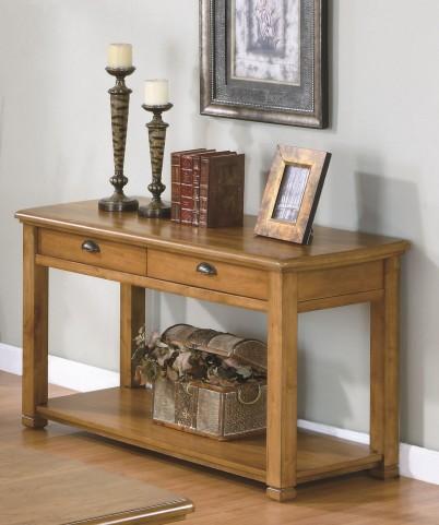 7889S Light Oak Sofa Console Table