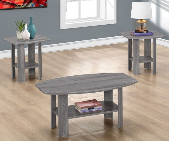 7925P Gray 3 Piece Occasional Table Set