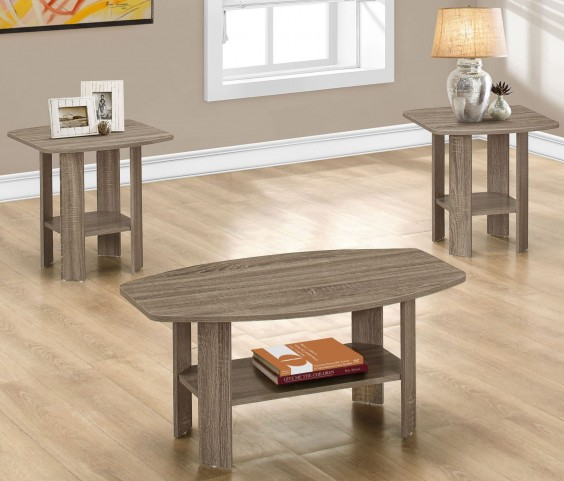 Dark Taupe 3 Piece Occasional Table Set