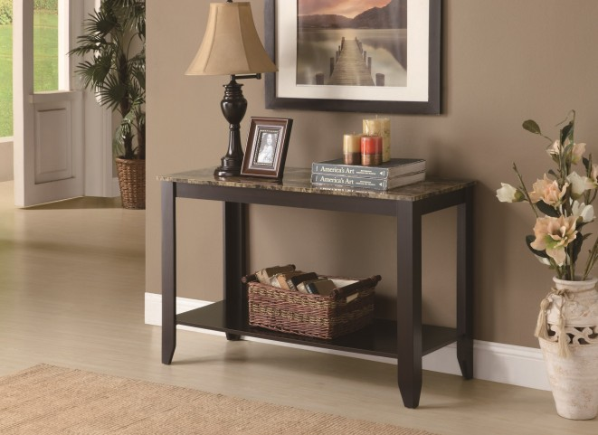 7983S Cappuccino Sofa Console Table