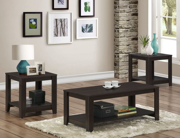 3 Piece Cappuccino Table Set
