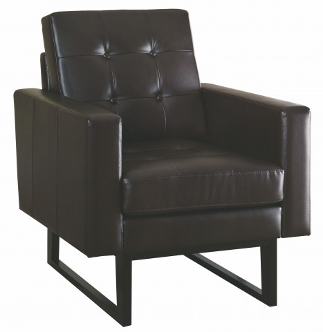 8008 Dark Brown Bonded Leather Match Accent Chair