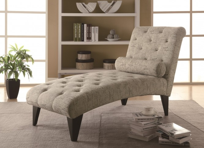 8034 Vintage French Fabric Chaise Lounger
