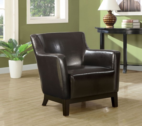 Dark Brown Wood legs Accent Chair