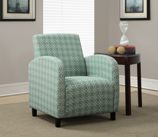 Faded Angled Kaleidoscope Fabric Accent Chair