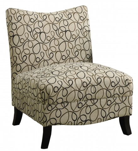 8047 Tan Swirl Fabric Accent Chair