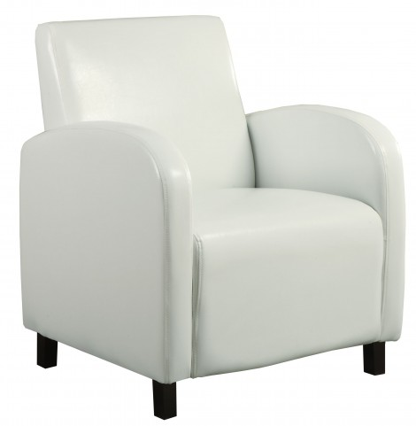 8073 Black Leather-Look / Chrome Metal Accent Chair