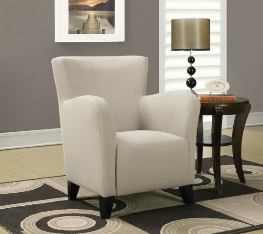 Taupe Linen Fabric Club Chair