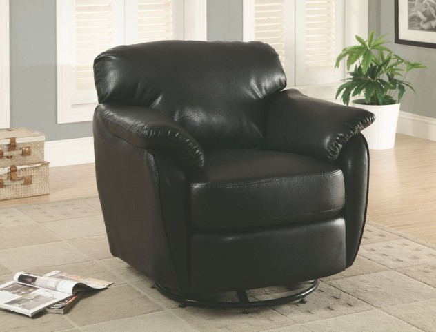Black Swivel Accent Chair