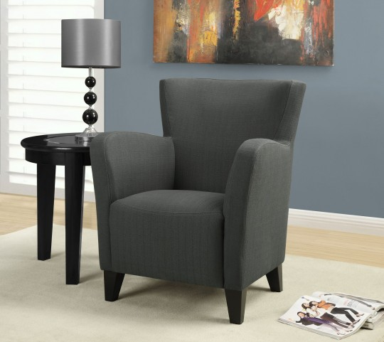 Charcoal gray Linen Fabric Club Chair