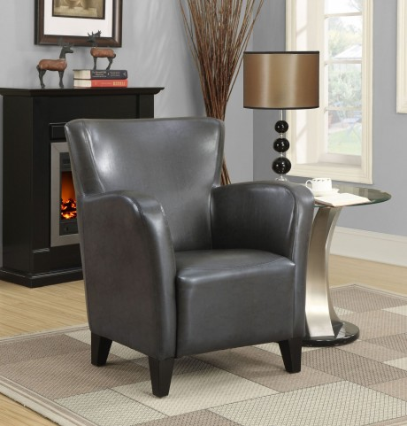Charcoal gray Club Chair