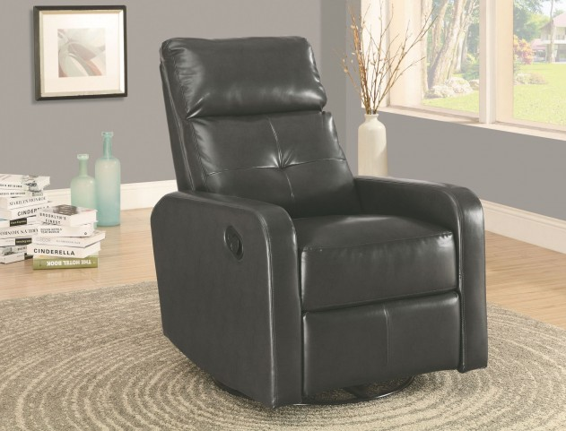 Charcoal Gray Swivel Glider Recliner 8085GY