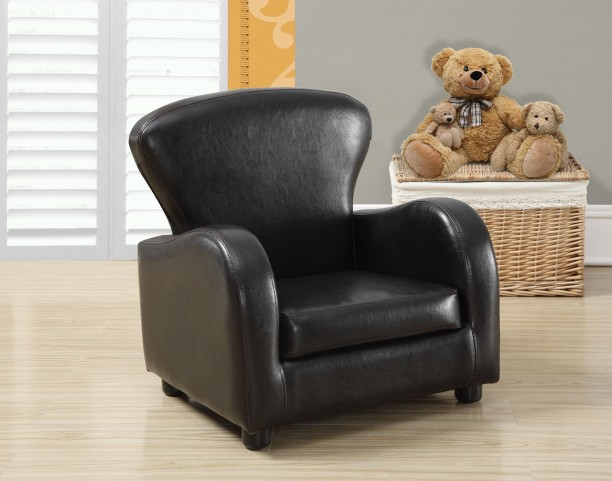 Dark Brown Juvenile Club Chair