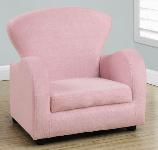 Fuzzy Pink Fabric Juvenile Chair