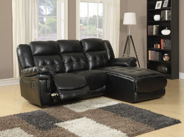 Black Match Reclining Sofa Sectional