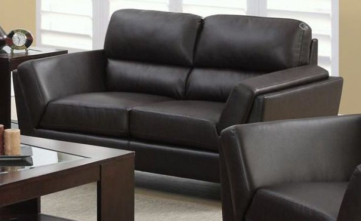 Dark Brown Match Loveseat