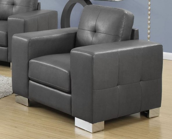 8221GY Charcoal Gray Bonded Leather Chair