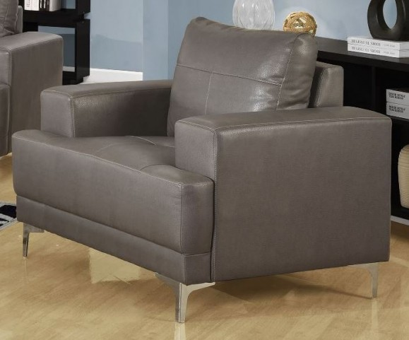 8601GY Charcoal Gray Bonded Leather Chair