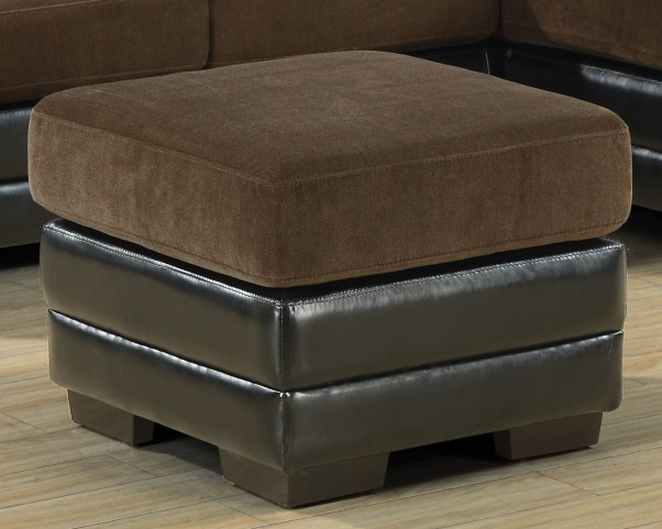 8941BR Chocolate / Dark Brown Ottoman